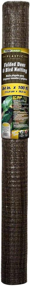 YARDGARD 889554A 7x100 3/4Mesh Netting, 100 Foot, Black