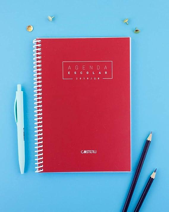Casterli - Agenda Escolar 2019-2020 Basic Edition - Semana Vista, Tamaño A5 (Negro)