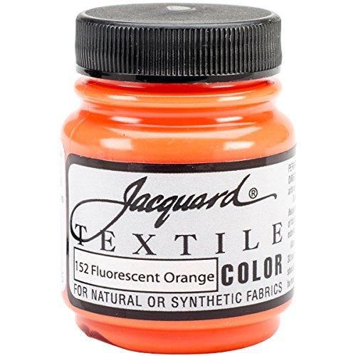 Jacquard Products Textile Color Fabric Paint 2.25-Ounce, Fluorescent Orange
