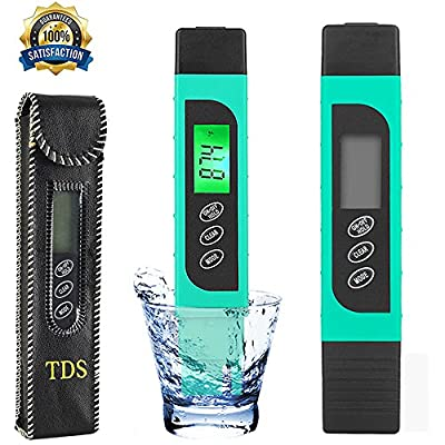 [4-Mode]Digital PH Meter for Water, Waterproof Ultra-Fast High Accuracy Portable Water TDS Quality Tester - Best for Household Drinking Water, Hydroponics, Aquariums, Swimming Pools, 0.1PH Resolution