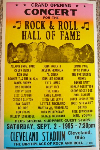 (Grand Opening Concert for the Rock & Roll Hall of Fame w/ Allman Bros, Dr. Dre, Jimmy Page & Many More!)