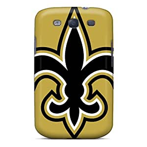 Shock Absorption Cell-phone Hard Covers For Samsung Galaxy S3 With Unique Design HD New Orleans Saints Pattern JoanneOickle