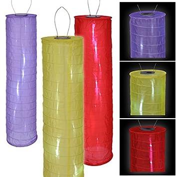 Lot de 3 LED lampe solaire la Chine Lampion lanterne rouge, jaune ...