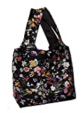 Fun Print Shoulder Tote Bag Faux Leather Lined and Inner Slip Pocket (Wildflowers)