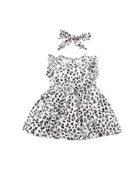 AiYannis6 3PCS Baby Girls Short Sleeve Letter Printed Ruffled Bodysuit Romper Heart Ruffle Shorts with Solid Headband Outfits