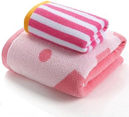 LI LU SHOP Toallas y Toallas de baño Toallas de algodón Toallas Suaves Toallas de Mano Toallas absorbentes de Agua Toalla de natación (Color : Pink)