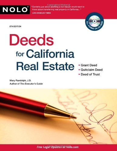 Deeds for California Real Estate by Randolph, Mary (June 7, 2010) Paperback (Deeds For California Real Estate By Mary Randolph)