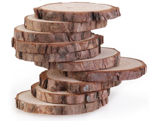 Natural Wood Slices 20 Pcs 3 4 inch for Centerpieces Crafts Ornaments Wooden Circles with Bark DIY Crafts