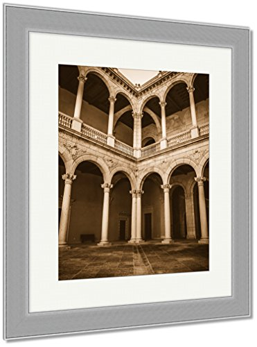 Ashley Framed Prints Toledo Famous City In Spain, Wall Art Home Decoration, Sepia, 35x30 (frame size), Silver Frame, AG6114661 by Ashley Framed Prints