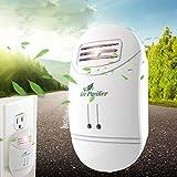 Mini Air Purifier Freshener Cleaner Plug-in Odor Cigarette Smoke Odor Smell Bacteria Dust Eliminator Dust Anion Sterilization Air Cleaner Smoke Filter Home Travel (White)