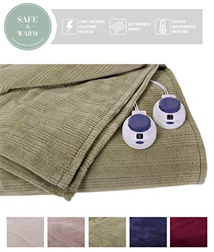SoftHeat by Perfect Fit | Ultra Soft Plush Electric Heated Warming Blanket with Safe & Warm Low-Voltage Technology (King