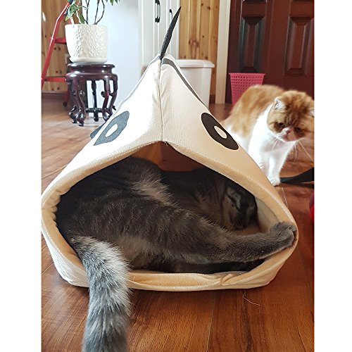 Petgrow Novelty Cat Bed House Decorative Fish Shaped Large Size, Cozy Comfy Pet Bed Cave for Cats Small Dogs, Kitten Puppy Cute Bed Cuddle,Beige by Petgrow (Image #6)