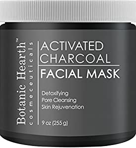 Botanic Hearth Activated Charcoal Facial Mask, Deep Cleansing Mask for Supple Skin, 9 oz …