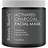 Botanic Hearth Charcoal Facial Mask, Pore Minimizer, Deep Cleansing, Peel Off Black Face Masks for Supple Skin, 9 oz