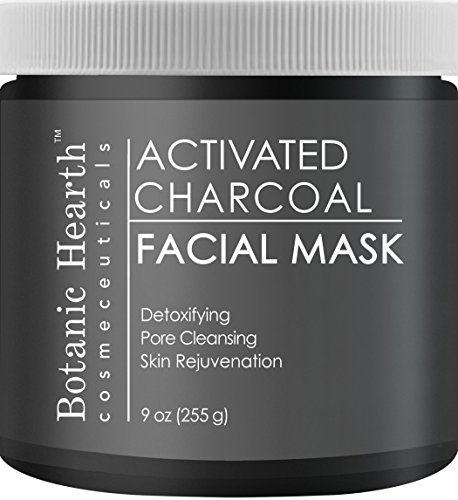 Botanic Hearth Charcoal Facial Mask, Deep Cleansing Face Mask for Supple Skin, 9 oz
