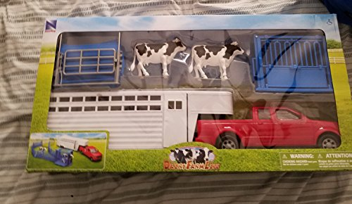 - New Ray Pickup Truck with Cattle Ranch Life Playset 1:18 Scale