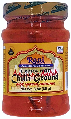 Rani Extra Hot Chilli Powder Indian Spice 3oz (85g) ~ All Natural, No Color added, Gluten Free Ingredients | Vegan | NON-GMO | No Salt or fillers