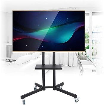 GOTOTOP - Soporte para televisor con ruedas de pie y soporte móvil, altura ajustable para pantalla plana LCD/LED de 32 a 65 pulgadas: Amazon.es: Electrónica