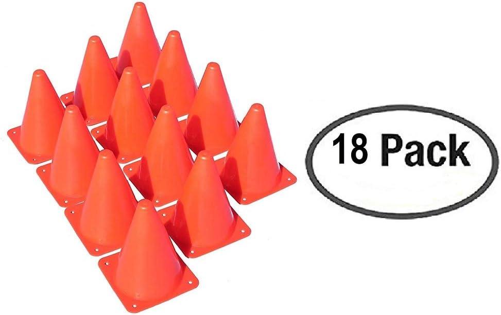 Oojami 18 Orange Plastic Traffic Cones with Carry On Bag