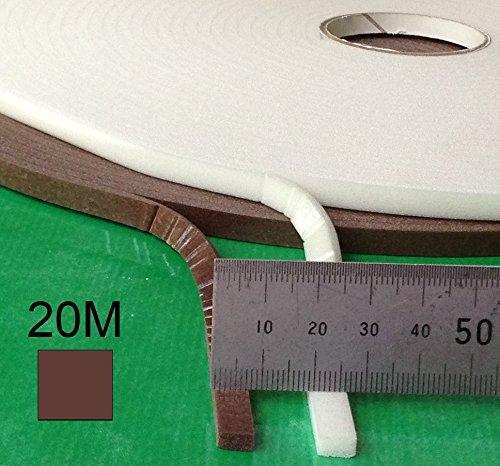 Selbstklebende Zugluftstopper Schaum für Lücken 1- 5mm - 20 M Braun