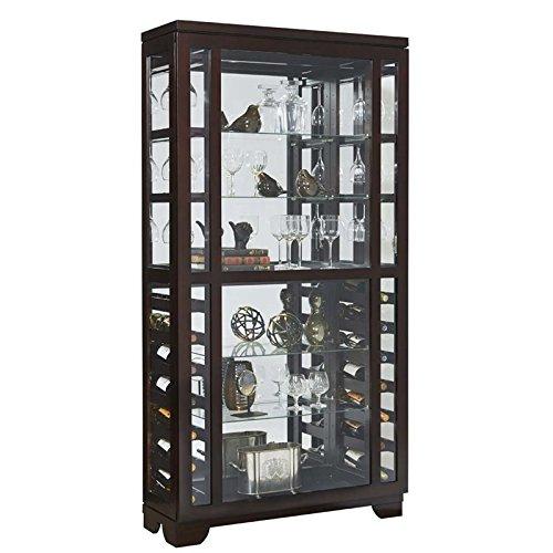 Pulaski Sliding Front Wine Curio Cabinet, (Wine Curio Cabinet)