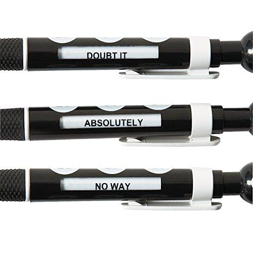 8 Ball Message Pens (12 Pack) Plastic. Black Ink. Basic School Supplies & Pens Photo #3