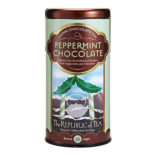 The Republic Of Tea Peppermint Cuppa Chocolate Tea, 36 Tea Bags, Rooibos Tea Dessert Blend