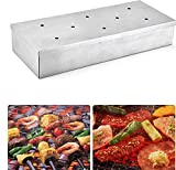 Halo Sun Stainless Steel BBQ Gas Grill Smoker Box with Lip Durable Home Garden Outdoor Flavor Wood Chips Barbecue Tool Accessories