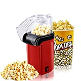 Popcorn Machine 1200W Hot Air Popcorn Maker with Wide Mouth Design Fast Popcorn Machine No Oil Needed Including Measuring Cup and Removable Lid
