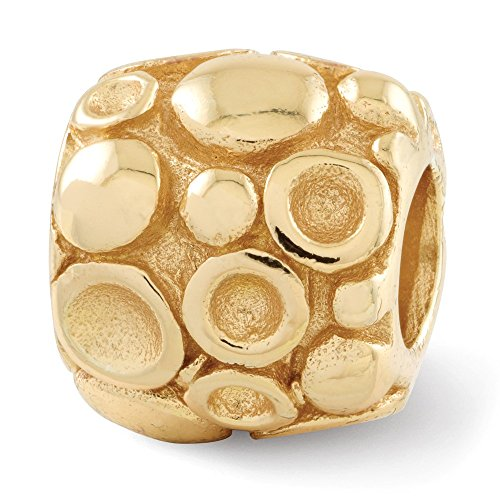 Jewels By Lux 925 Sterling Silver Gold-Plated Reflections Dots Bali Bead (Ss Bali Bead)