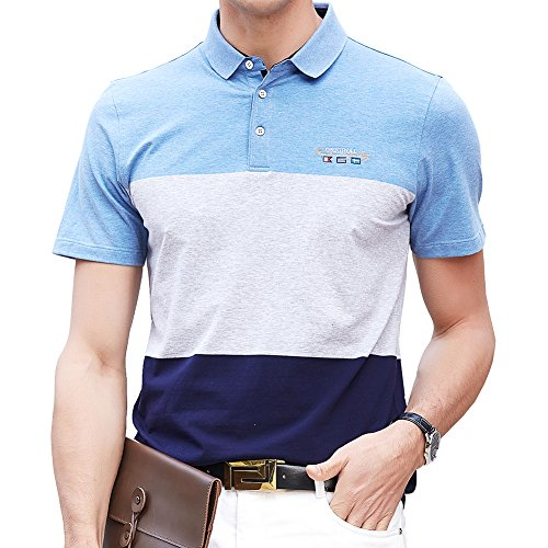 ユダヤ人モバイル望むポロシャツ メンズ ゴルフウェア 半袖 コットン 通気性良い 刺繍 ストレッチ 二重衿 軽量 通気性良い