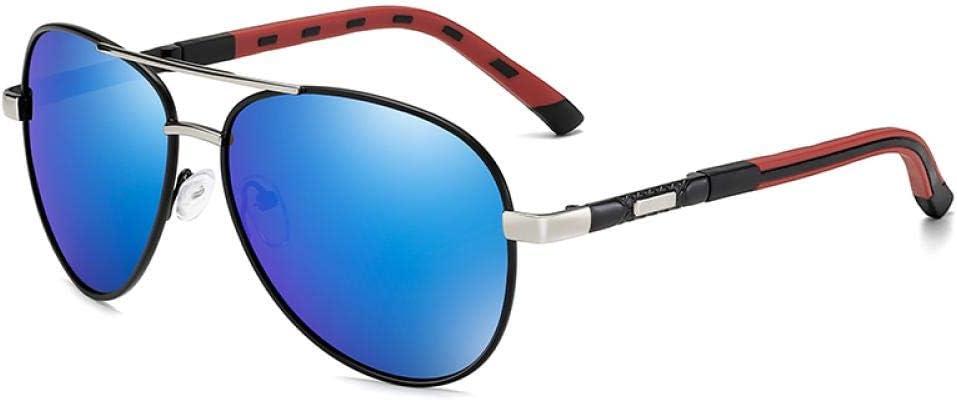 Sunglasses Gafas De Sol Polarizadas Clásicas De Diseño De Marca para Hombre, Gafas De Sol De Conducción De Metal, Gafas De Sol con Revestimiento para Hombre, Gafas De Sol