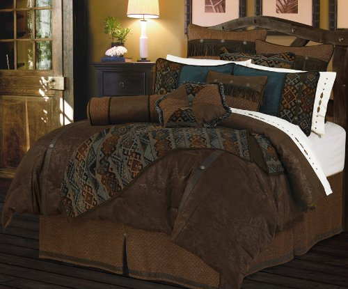 HiEnd Accents Del Rio Western Comforter Set, Super King
