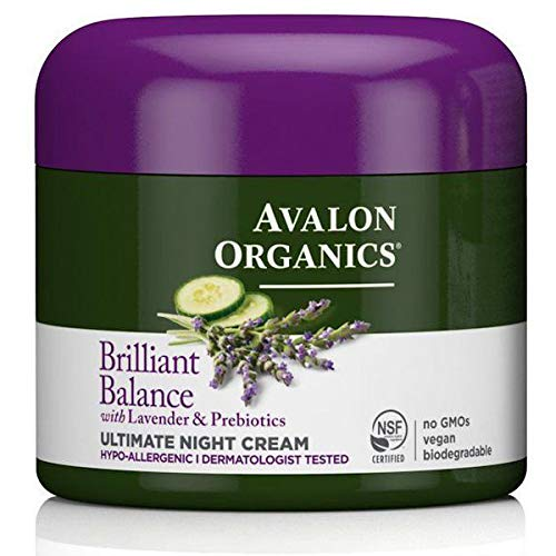 Avalon Organics Brilliant Balance with Lavender & Prebiotics Ultimate Night Cream 2 oz