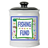 Tumbleweed – Fishing Fund – Colorful Round Ceramic Coin Bank Jar With Black Lid – Gifts For Men – Fishing Gifts – Fishing Lure Piggy Bank Review