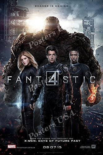 Posters USA Marvel Fantastic Four 4 2015 Movie Poster GLOSSY