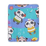 My Little Nest Warm Throw Blanket Panda Lightweight Microfiber Soft Blanket Everyday Use for Bed Couch Sofa 50'' x 60''