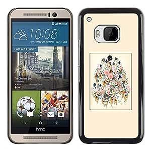 Caucho caso de Shell duro de la cubierta de accesorios de protección BY RAYDREAMMM - HTC One M9 - Art Blossoming Painting Design