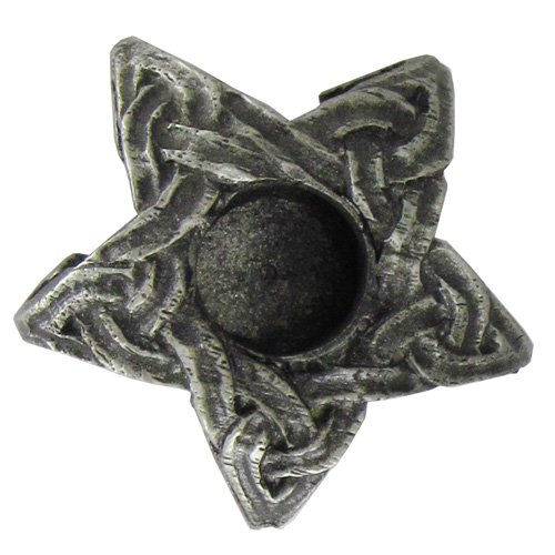 Dryad Design Pewter Mini Celtic Knot Star Chime Candle Holder