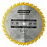 8000 grit paper - Overpeak 10 Inch ATB Saw Blade Wood Thin Kerf 30 Tooth Carbide Crosscutting Miter Saw Blades with 5/8 Inch Arbor