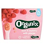Organix Apple & Raspberry With Pieces 7+ Months Stage 2 4 X 95G - Pack of 2