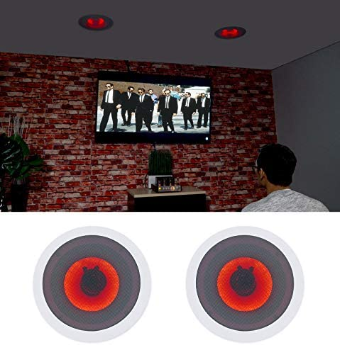 Pair Rockville HC65-LED 6.5″ 500 Watt in-Ceiling Dwelling Theater Audio system with LED