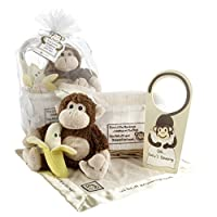 Baby Aspen, Five Little Monkeys, juego de regalo para baby shower con cesta de recuerdo