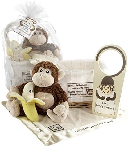 Baby Aspen Five Little Monkeys ギフトバスケット<並行輸入品> [並行輸入品]