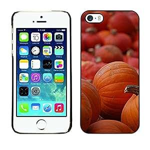 FECELL CITY // Duro Aluminio Pegatina PC Caso decorativo Funda Carcasa de Protección para Apple Iphone 5 / 5S // Halloween Orange Autumn Holiday