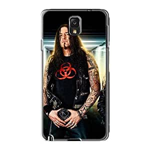 Shock-Absorbing Hard Phone Cases For Samsung Galaxy Note3 (aol661QWjb) Allow Personal Design Beautiful Destruction Band Pattern