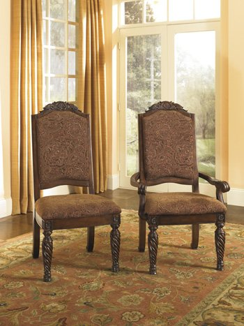 D553-02a Ashley Furniture Dining Uph Arm Chairs, Set of (Ashley North Shore Dining)