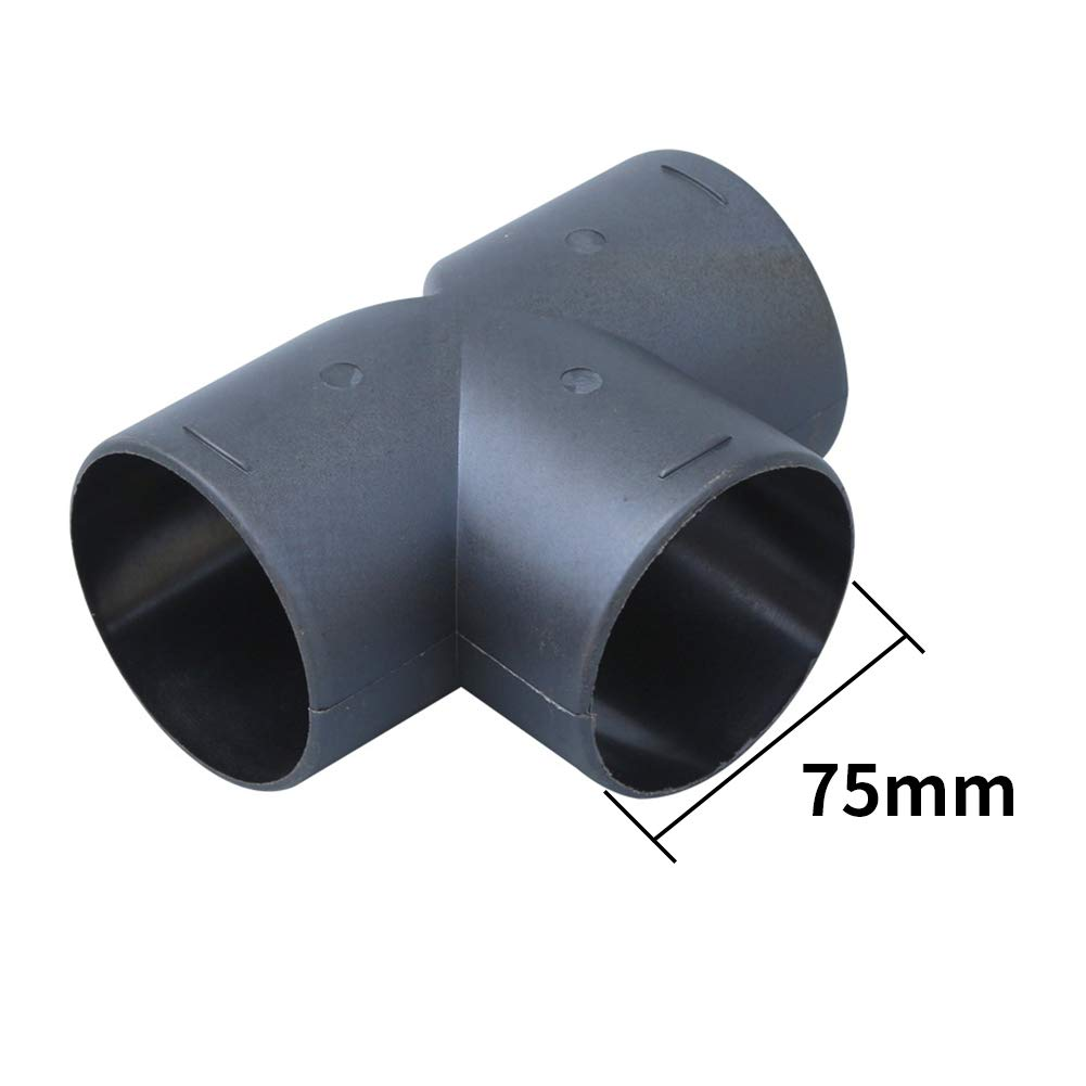 Matedepreso 75mm Entl/üftungsrohr T-St/ück Kniest/ück Auslass Abgasanschluss Standheizung Auto Ersatzteile