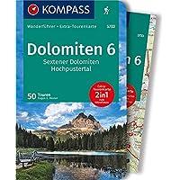 KOMPASS Wanderführer Dolomiten 6, Sextener Dolomiten, Hochpustertal: Wanderführer mit Extra-Tourenkarte 1:50.000, 50 Touren, GPX-Daten zum Download: Wandelgids met overzichtskaart
