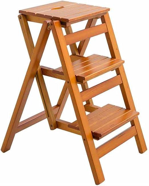 La escalera Taburete plegable de tres niveles con escalera de ...